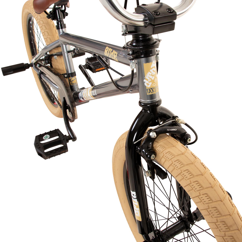 bmx 20 zoll fahrrad jugend rad detox 20 freestyle grau b. Black Bedroom Furniture Sets. Home Design Ideas