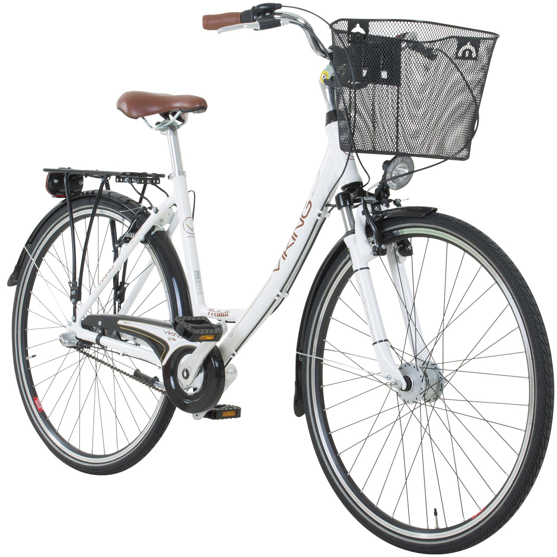 Viking Prelude Damenfahrrad 28 Zoll Citybike Cityrad Damenrad Korb 3 ...