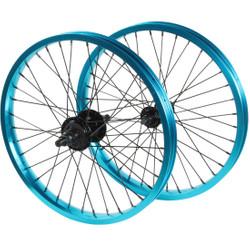 18 Zoll BMX Black Eye Intergalactic Laufradsatz blau eloxiert