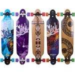 Longboard Slick Carver Drop Through 106 cm Freeride Skateboard Cruiser