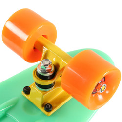 "SLICK Stuff Mini Cruiser Skateboard Kinderskateboard ""Glow in the Dark!"" Leuchteffekt Bild 6"