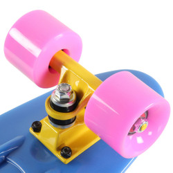 "SLICK Stuff Mini Cruiser Skateboard ""Glow in the Dark!"" Bild 7"