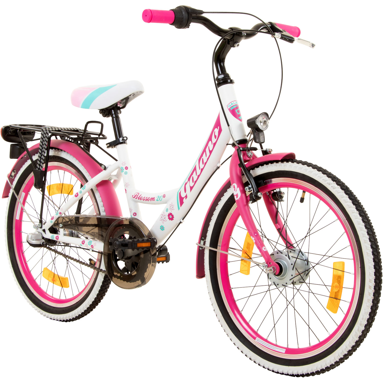 fahrrad 20 zoll kinderfahrrad galano blossom m dchenrad. Black Bedroom Furniture Sets. Home Design Ideas