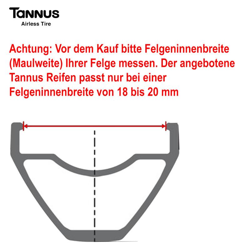 """700 x 32C Tannus """"High-Tech-Polymer – Reifen, ohne Luft"""" solid Fixie Singlespeed Reifen Aither 1.1 – Bild 19"""