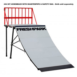 Freshpark 4 X 4 Bike Quarter Pipe 4 Foot Fahrrad Extension Kit für Quarterpipe