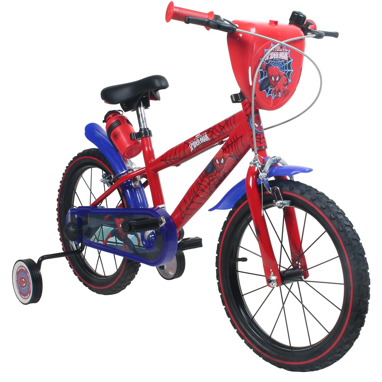 16 zoll marvel spiderman kinderfahrrad fahrrad f r kinder ab 4 jahren b ware ebay. Black Bedroom Furniture Sets. Home Design Ideas