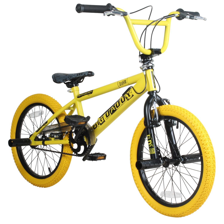 18 zoll bmx rooster big daddy rotor pegs schwarz gelb bike. Black Bedroom Furniture Sets. Home Design Ideas
