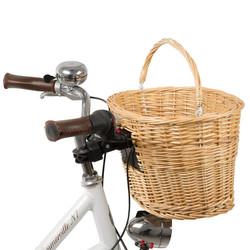 M-Wave Korb Fahrradkorb Weidenkorb Clip-On-Halter universell für Vorbau Lenkerschaftrohr Bild 3