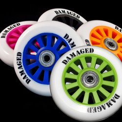 Damaged Rolle 100mm Nylon Stunt Scooter Felgen Abec 9 Lager Rolle Bild 6
