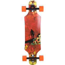 Longboard Shorty Surge Drop Through 81 cm extra leicht children surfer Kinderskateboard  001