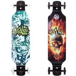 Speed Longboard Slick Drop Down 100 cm Drop-Down Funboard Offroad große CNC Aluminium Rollen Landpaddling