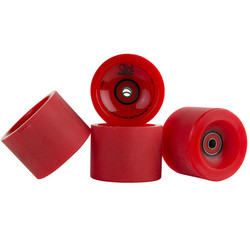 SlickStuff 4x Longboard Freestyle Rollen Wheels 70mm 78A ABEC9 Kugellager Spacer 002