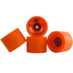 SlickStuff 4x Longboard Freestyle Rollen Wheels 70mm 78A ABEC9 Kugellager Spacer Bild 4