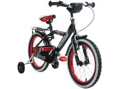14 Zoll Hi5Rebel schwarz rot Kinderfahrrad mit Rücktritt Stützräder und Gepäckträger Bild 5