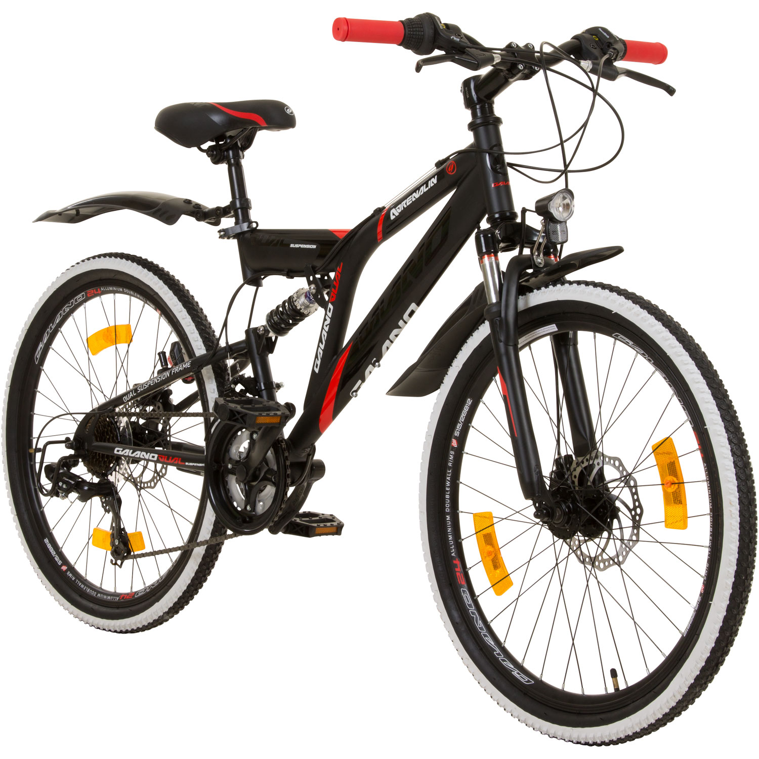 24 zoll mtb fully galano adrenalin ds mountainbike stvzo jugendfahrrad fahrrad jugendfahrrad 24 zoll. Black Bedroom Furniture Sets. Home Design Ideas