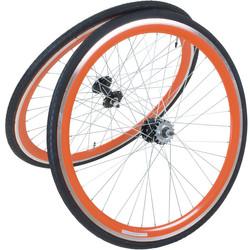 Viking 28 Zoll 700C Laufradsatz mit Reifen vorne + hinten Fixie Singlespeed Hochflansch Fixed Gear Wheel Bild 3