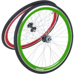 Viking 28 Zoll 700C Laufradsatz mit Reifen vorne + hinten Fixie Singlespeed Hochflansch Fixed Gear Wheel Bild 7
