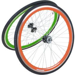 Viking 28 Zoll 700C Laufradsatz mit Reifen vorne + hinten Fixie Singlespeed Hochflansch Fixed Gear Wheel
