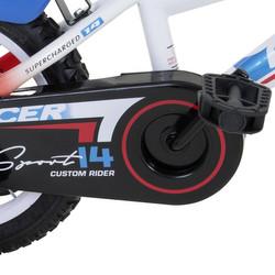 14 Zoll Hi5RACER weiss mit blauen und roten Details Kinderfahrrad mit Rücktritt Stützräder Bild 6