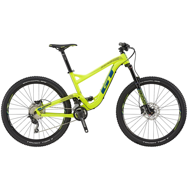 27,5 Zoll GT Sensor Comp Mountainbike MTB neon gelb 2018 Fully Full ...