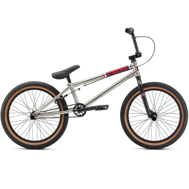 SE Bikes Everyday 2018 20 Zoll BMX SE Bikes Dirt/Street/Park/Freestyle Fahrrad silber