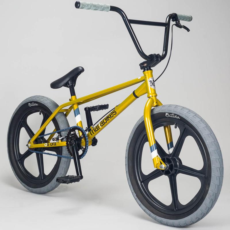 mafiabikes OS Ora 20 Zoll BMX Bike Skyway Old School Fahrrad Street Park Tricks gold