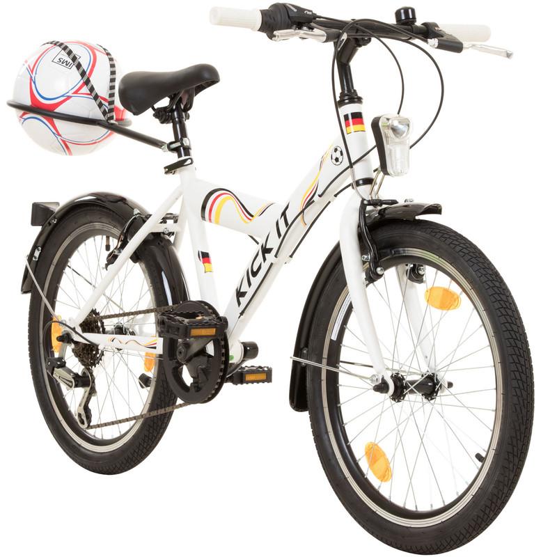 20 Zoll Jugendfahrrad KICK IT MTB mit Ballhalter und verschiedenen Dekors Fußball Fahrrad