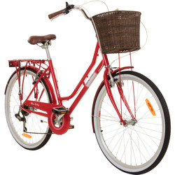 Galano Belgravia 26 Zoll Cityrad 6 Gang Damenfahrrad Mädchenrad Citybike mit Korb Bild 2