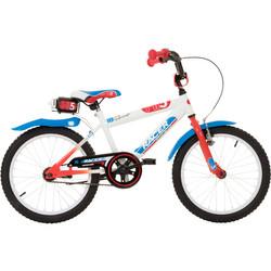 Hi5 Racer 18 Zoll Kinderfahrrad mit Rücktrittbremse rot blau Bild 2