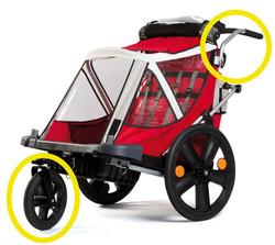 Bellelli Kit Urban Zubehör für B-Travel Kinderanhänger Fahrradanhänger 12 Zoll