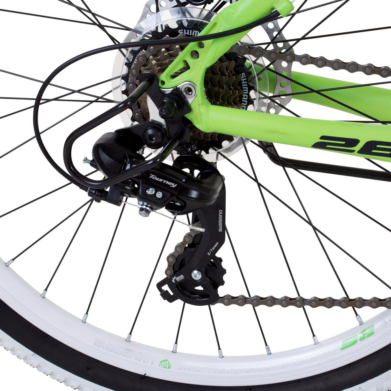 mountainbike 26 zoll hardtail mtb galano toxic jugend rad fahrrad 21 gang gr n ebay. Black Bedroom Furniture Sets. Home Design Ideas