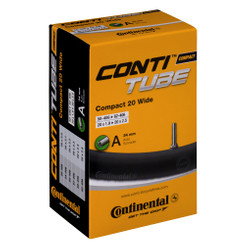 Continental Schlauch Conti Tube Compact 20 Wide  Autoventil Schrader Ventil 34 mm