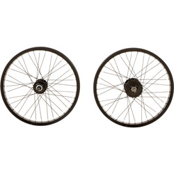 DeTox BMX Felge Laufrad vorne und hinten/Set 16 oder 20 Zoll schwarz Fahrrad Bild 9