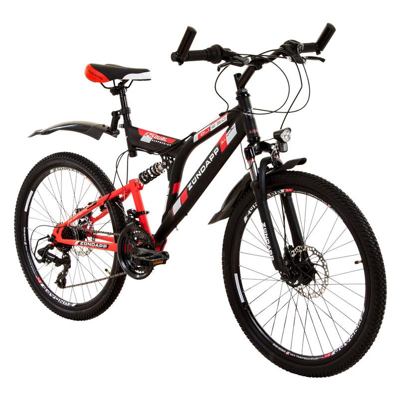 """Zündapp Blue 5.0 24 Zoll Fully Mountainbike Full Suspension MTB Fahrrad 24"""""""