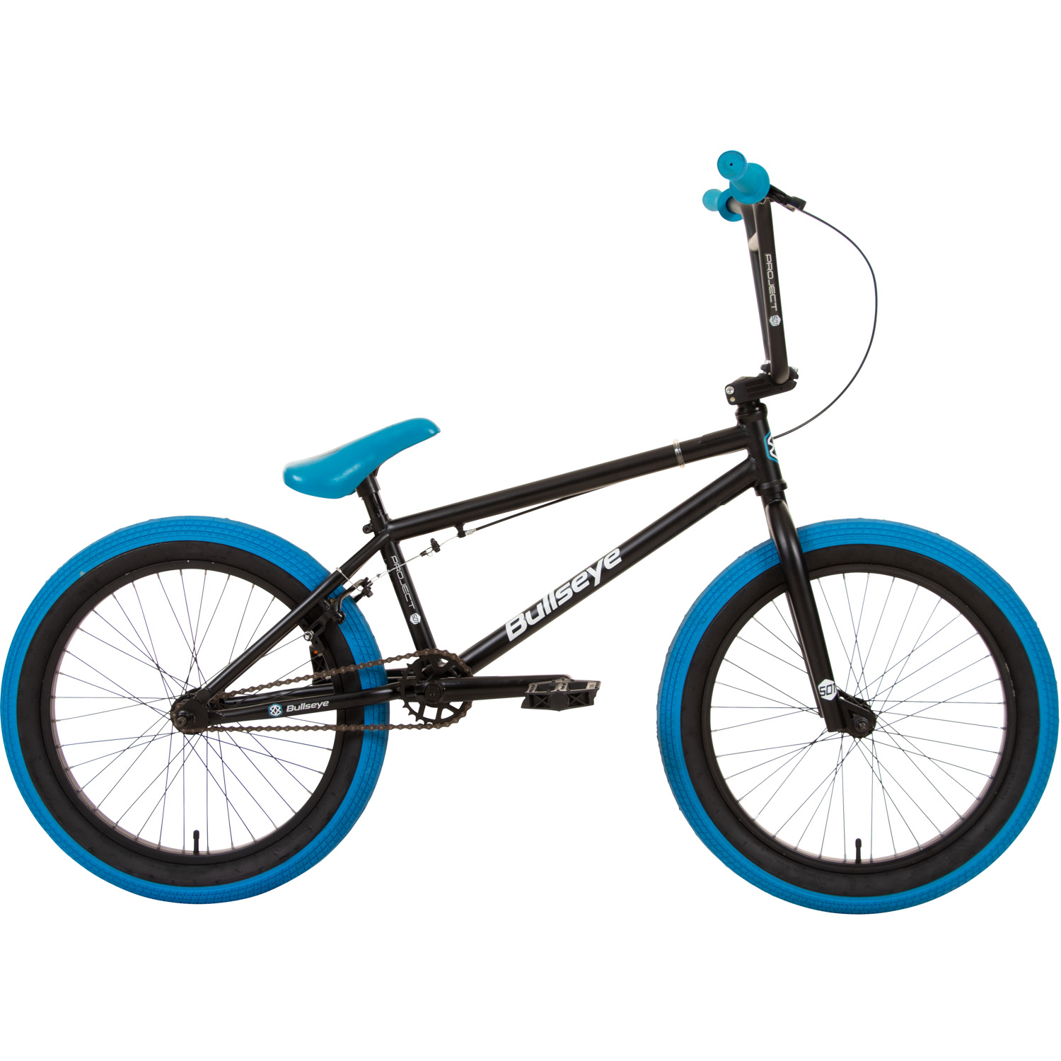 bmx 20 zoll bike 3 farben freestyle rad bullseye fahrrad. Black Bedroom Furniture Sets. Home Design Ideas