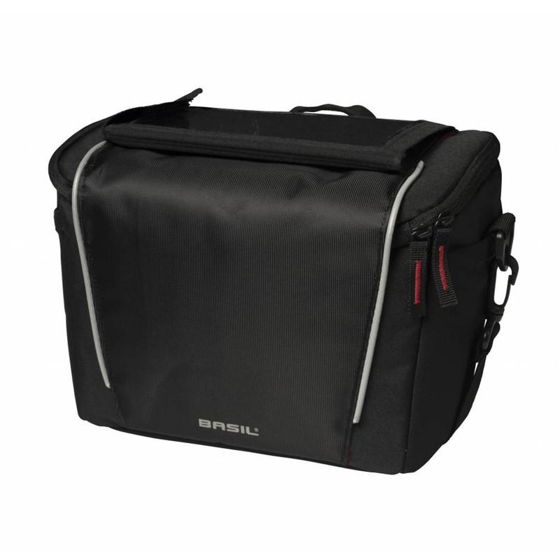 Basil Sport Design Lenkertasche 7 Liter Fahrradtasche für den Lenker schwarz mit Adapter