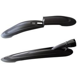 Dirtfox Steckblech 26 - 27,5 Zoll Schutzblech Fahrrad hinten, vorne oder als Set Kunststoff schwarz