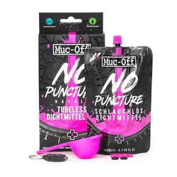 Muc-Off No Puncture Hassle Kit Fahrrad Pannenschutz Set 140 ml Dichtmittel Lampe