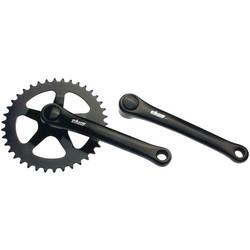 Thun Avax S Kettenradgarnitur 170 cm JIS Kurbelgarnitur einfach schwarz Stahl Fahrradkurbel