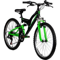 Galano Assassin 24 Zoll Mountainbike Full Suspension Jugendfahrrad Fully MTB Jugendliche Fahrrad ab 8 Jahre